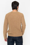 Vince Seamed V-Neck Wool & Linen Sweater - RUST & Co.