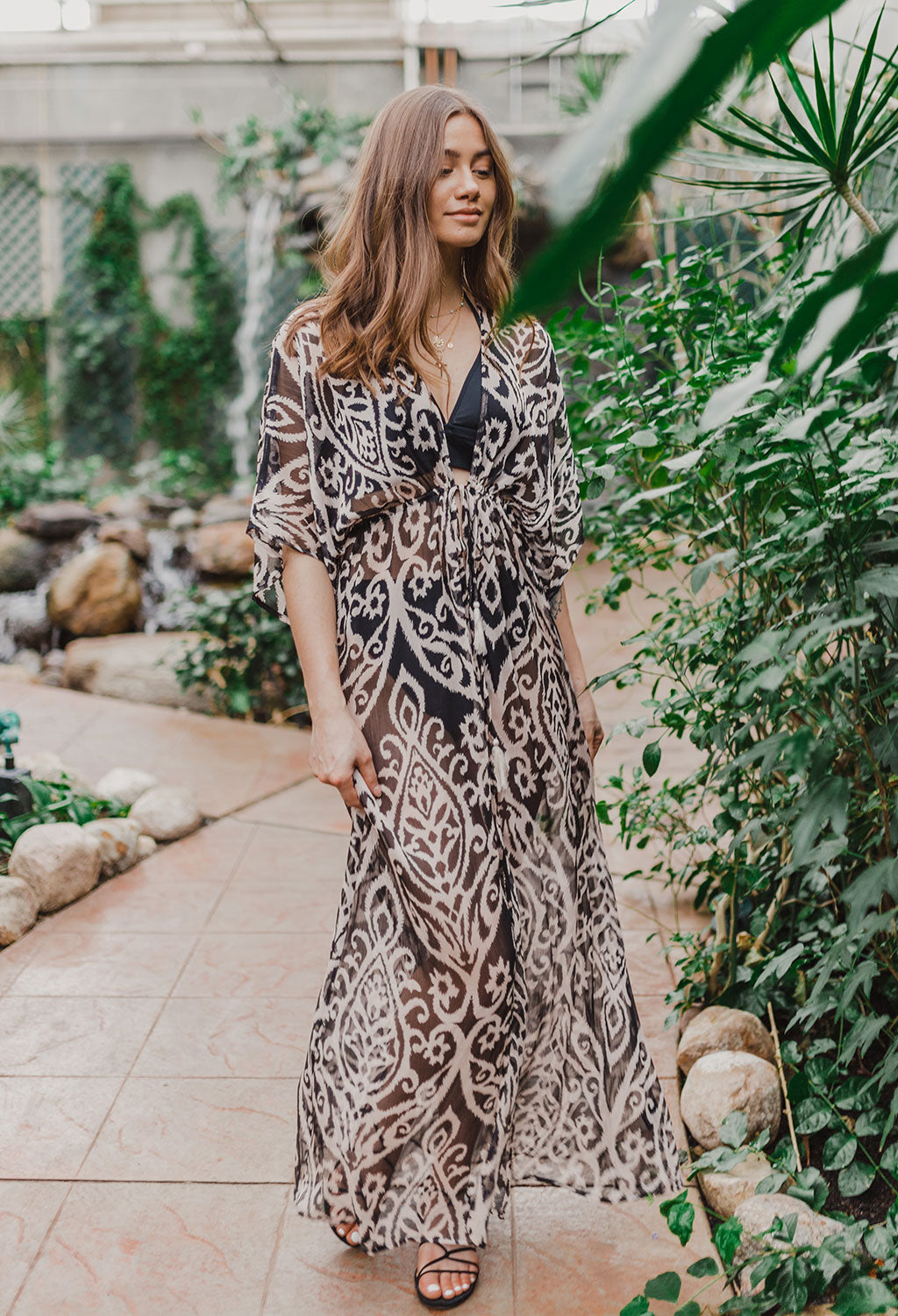 Lyla Kimono Cover-Up Maxi Dress