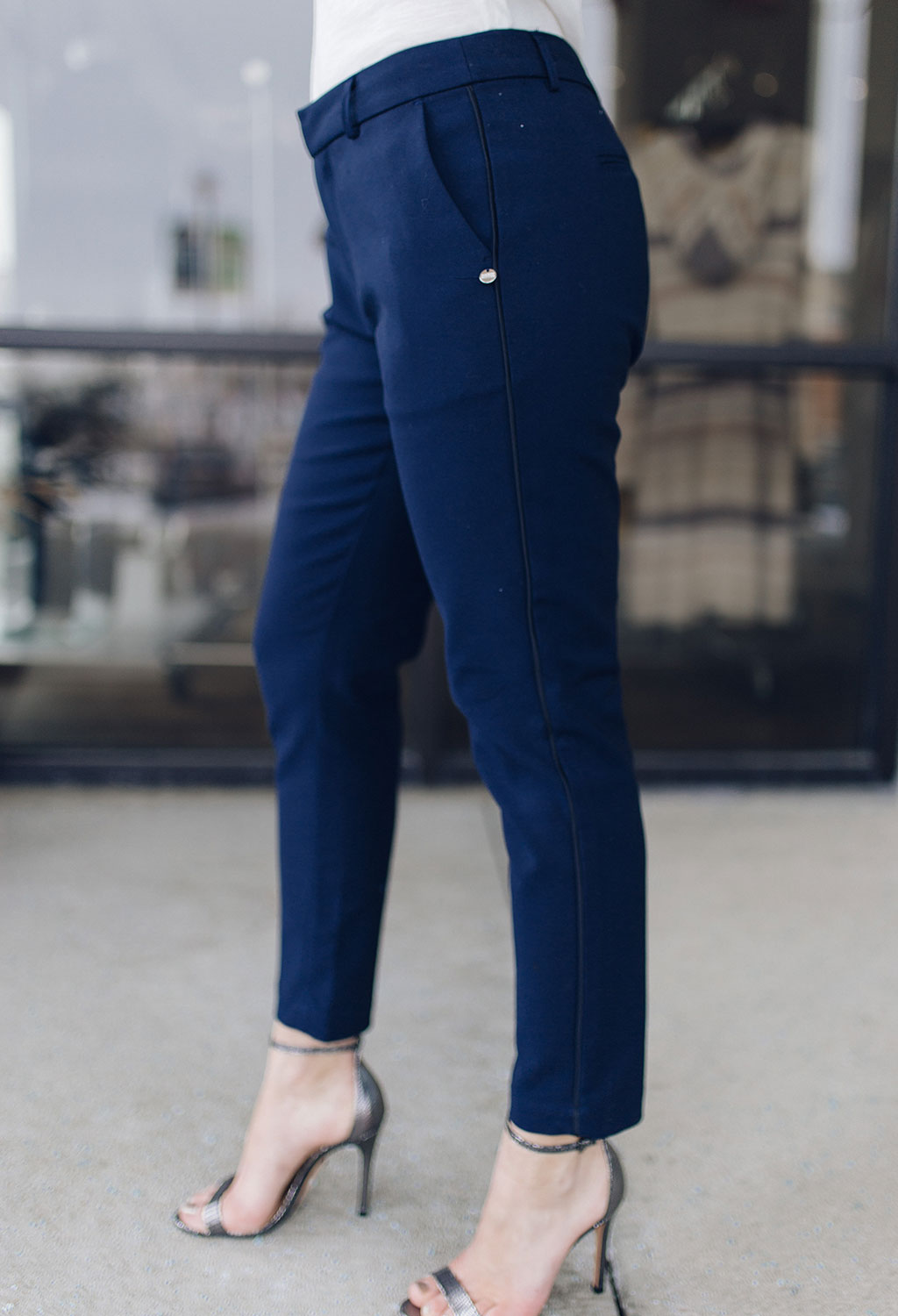Scotch & Soda Romy Tailored Stretch Pants With Piping