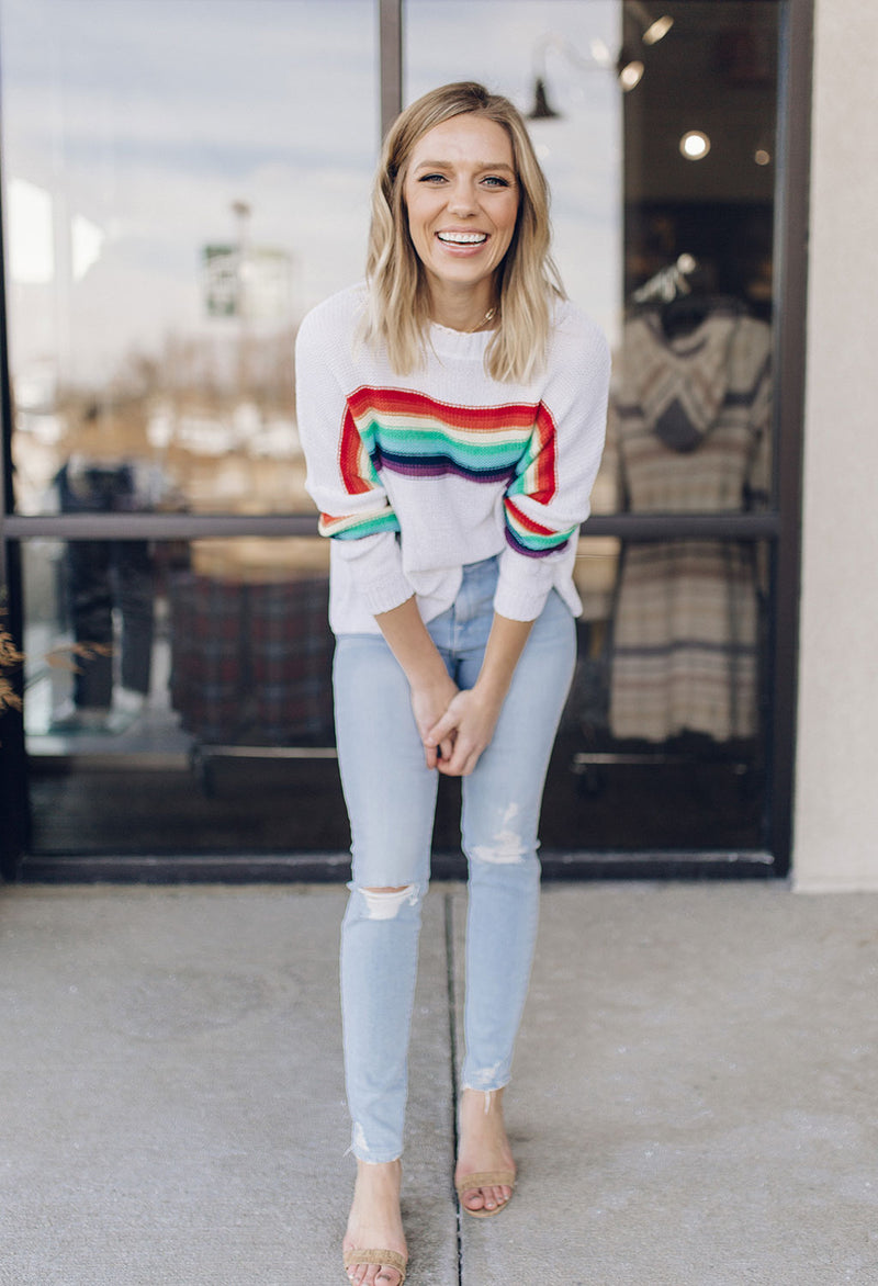 Rainbow Crew Neck Sweater