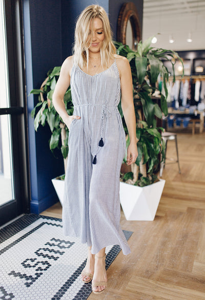 Taylor Striped Sleeveless Jumpsuit - RUST & Co.