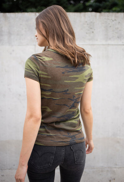 Printed Camo Ideal T-Shirt - RUST & Co.