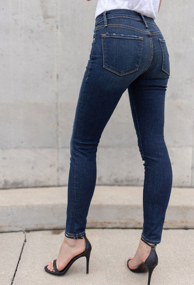 Frame Le Distressed Skinny De Jeanne Jeans - RUST & Co.