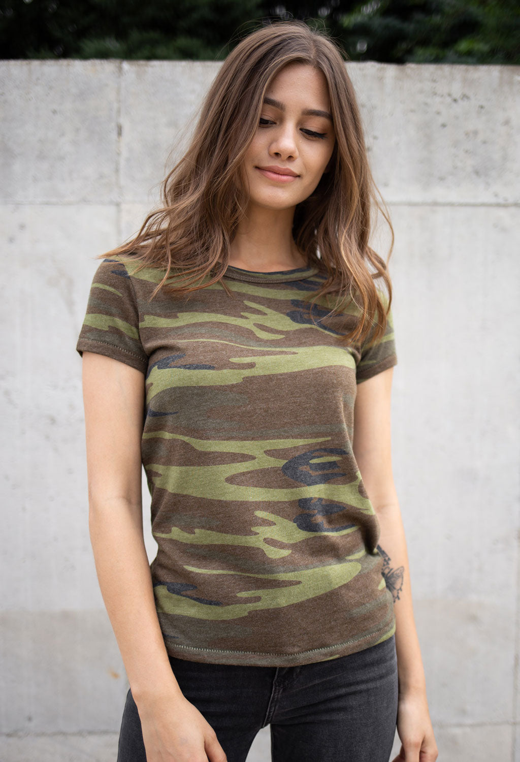 Printed Camo Ideal T-Shirt