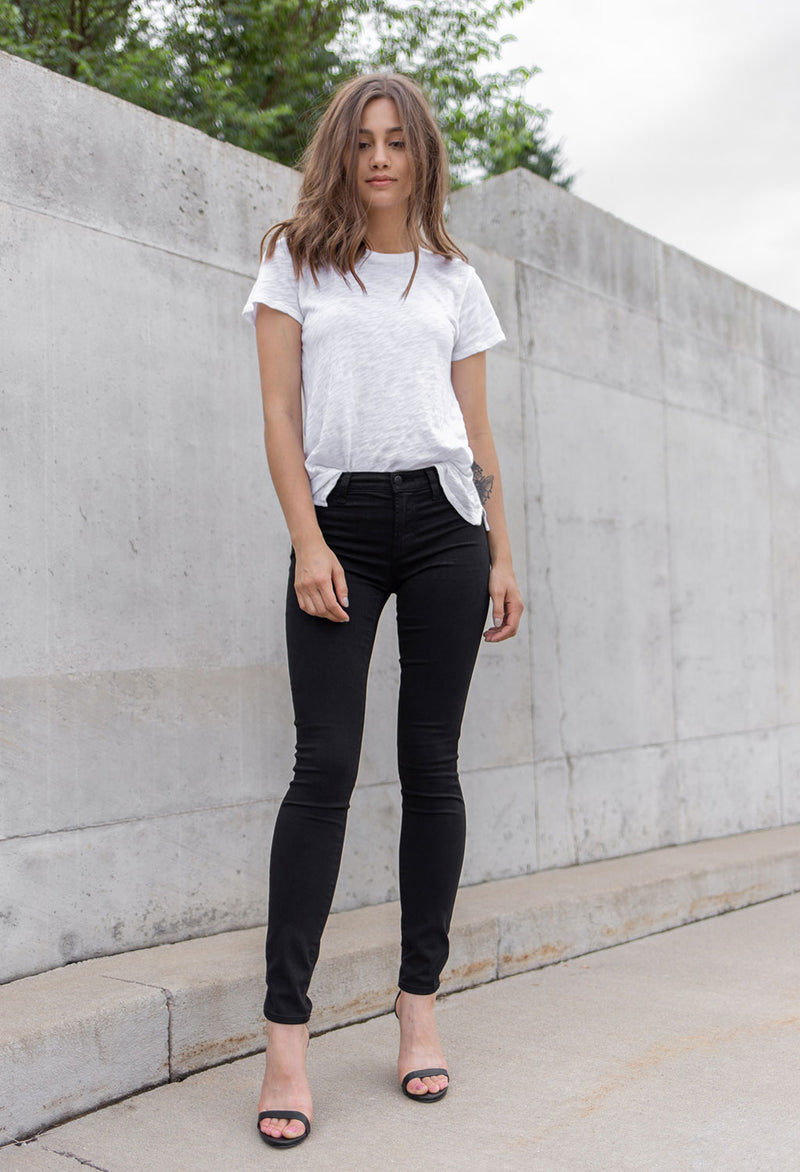 J Brand 620 Mid Rise Super Skinny, Seriously Black