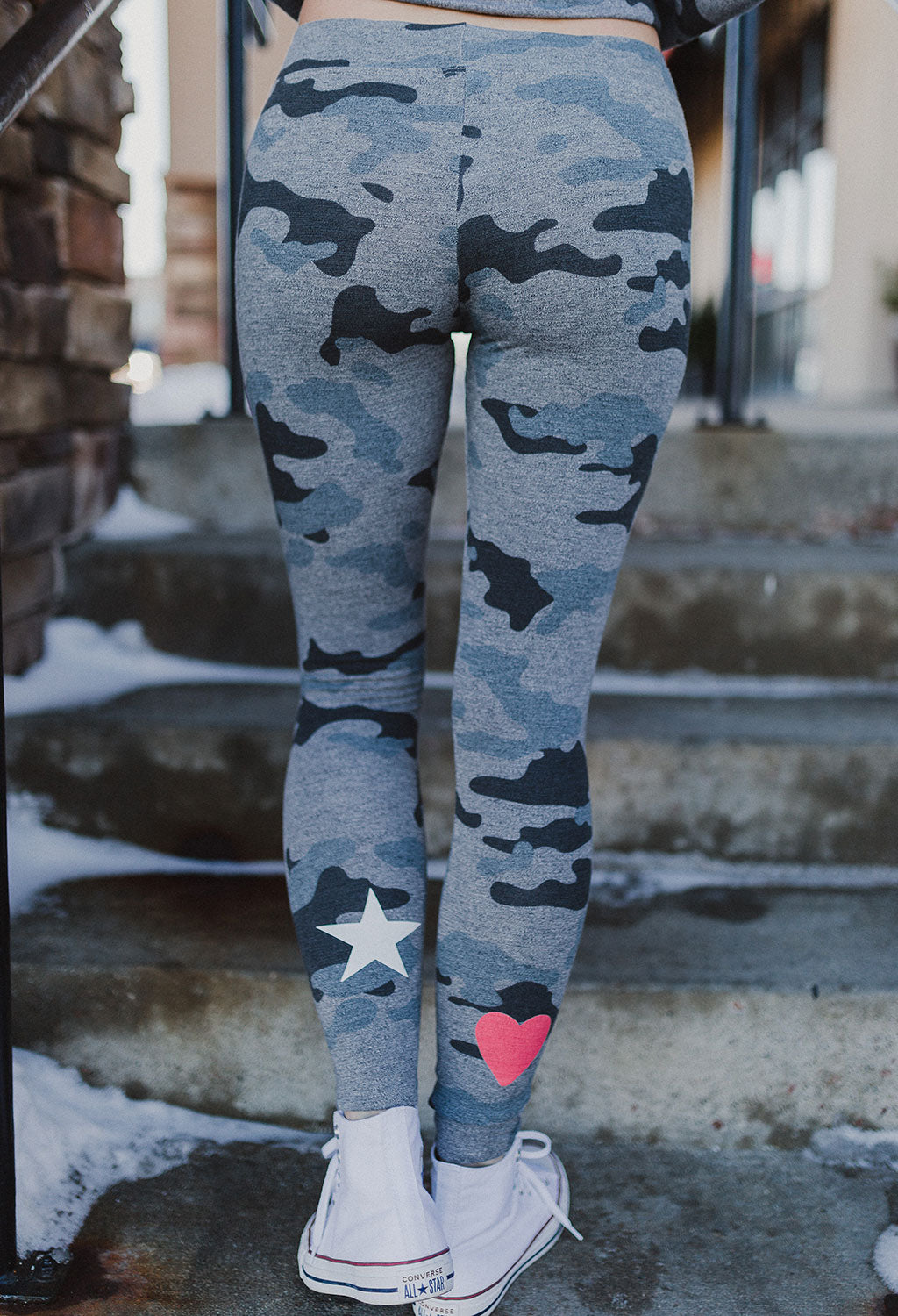Sundry Heart + Star Camo Sweat Pant