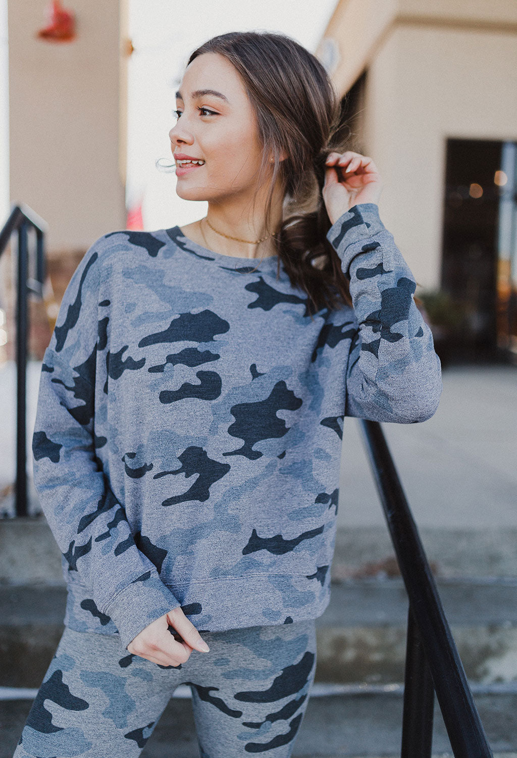 Sundry Camo Crew Sweatshirt - RUST & Co.