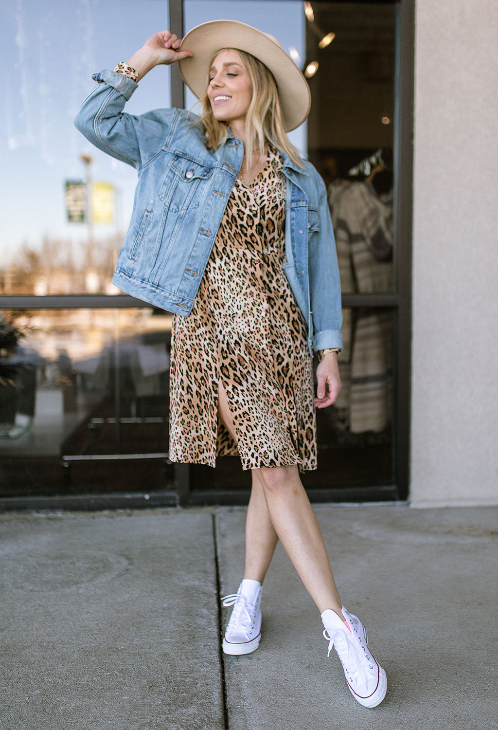 Frame Sgt Pepper Leopard Print Silk Dress