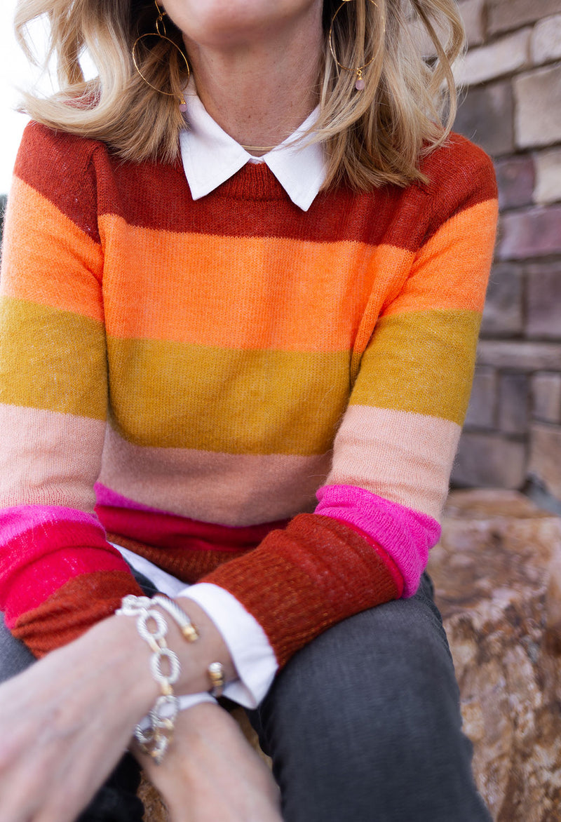 Scotch & Soda Colorful Bold Stripe Crew
