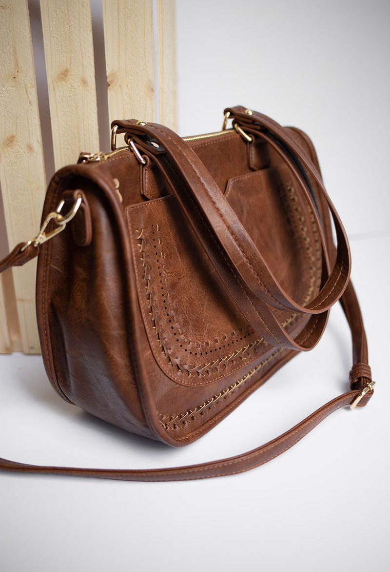 Priscilla Satchel Bag with Long Strap - RUST & Co.