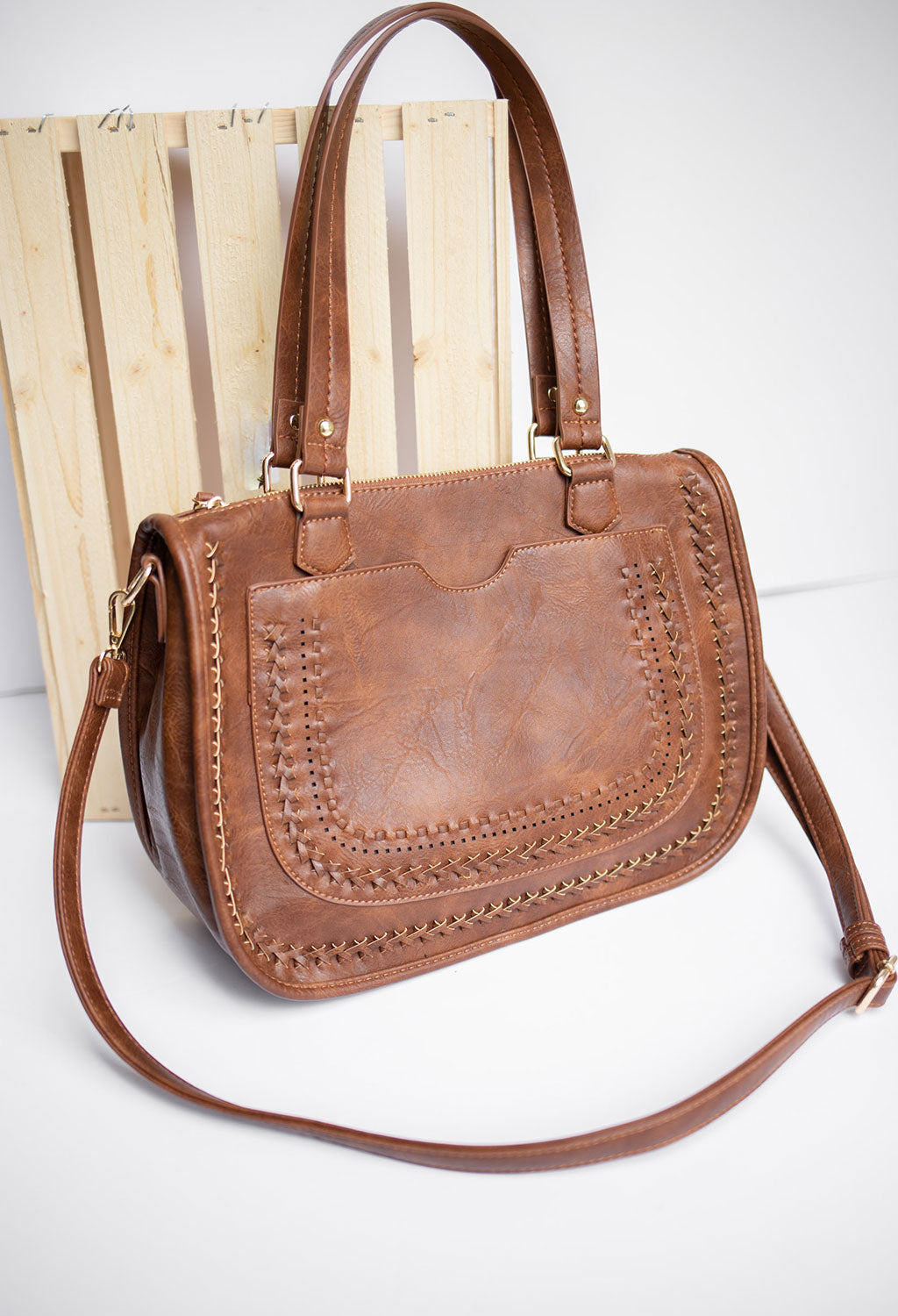 Priscilla Satchel Bag with Long Strap