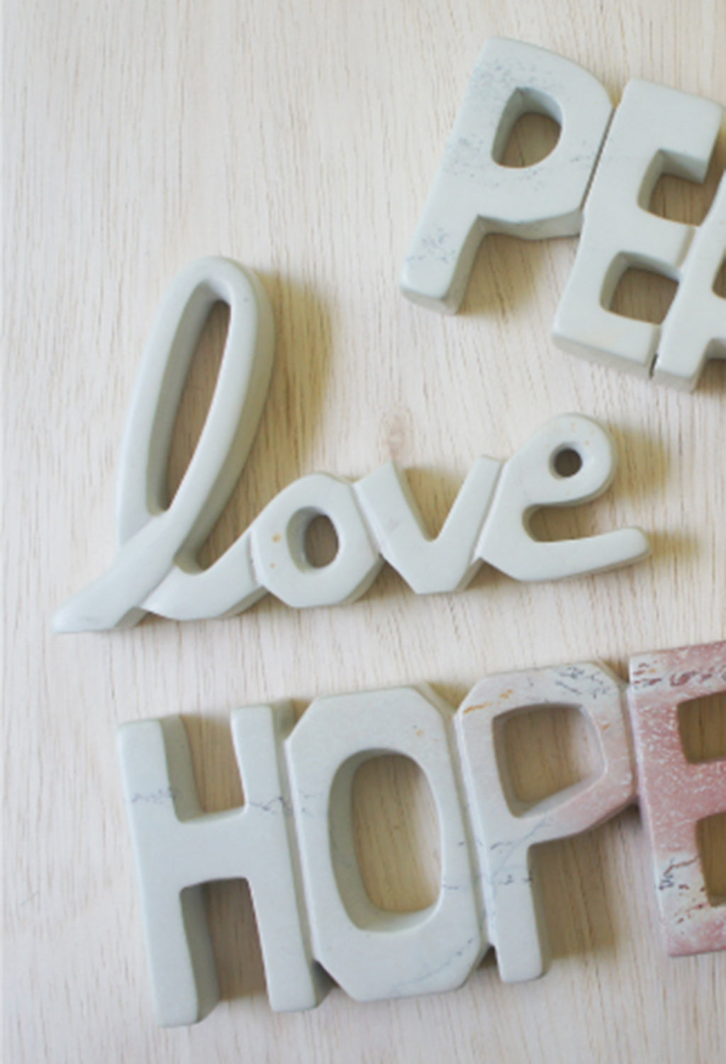 "Natural Stone ""Love"" Script Sculpture"
