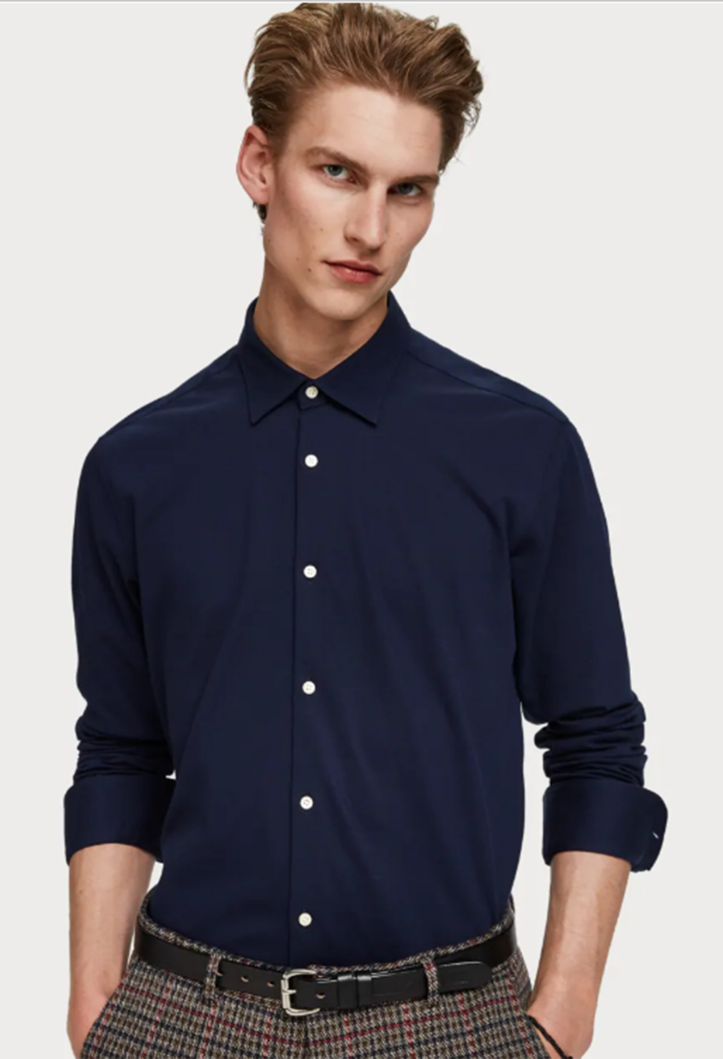 .Scotch & Soda Slim Fit Knitted Shirt