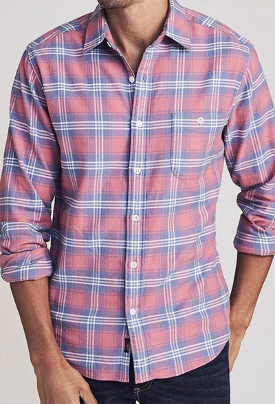 Faherty Stretch Seaview Flannel Shirt - RUST & Co.
