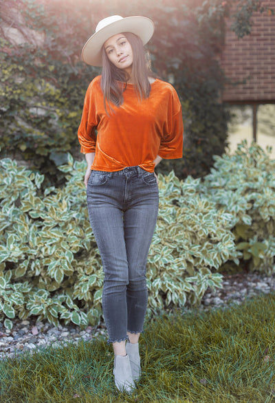 Cupcakes & Cashmere Leiden Velvet Top - RUST & Co.