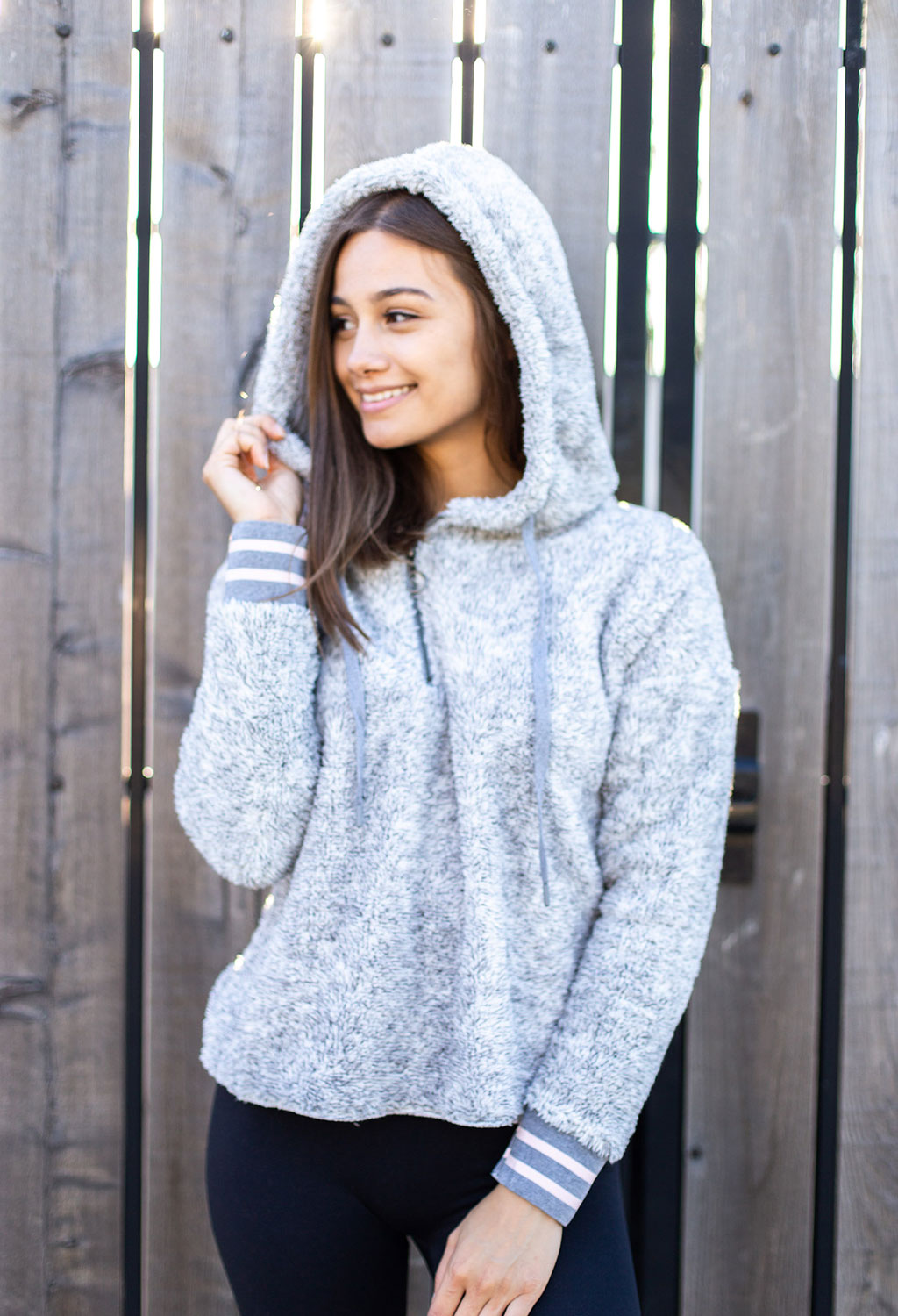Riley Cozy Fleece 1/4 Zip Hoodie