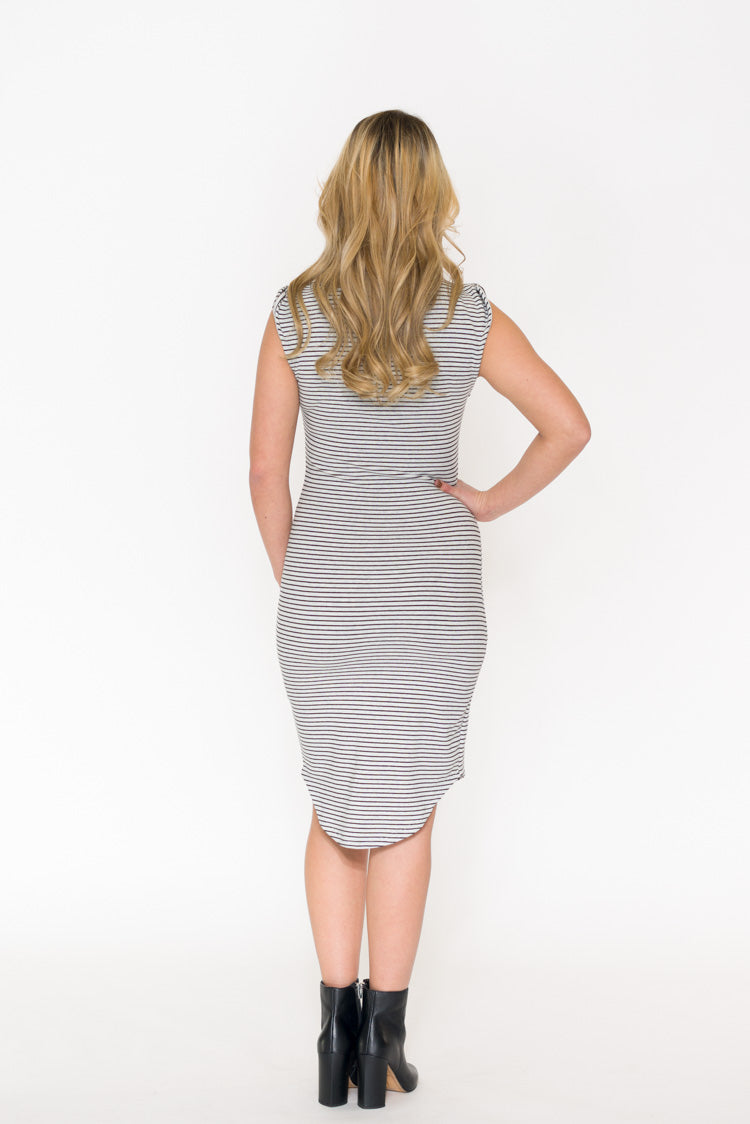 Cupcakes & Cashmere Lorena Stripe Knit Dress