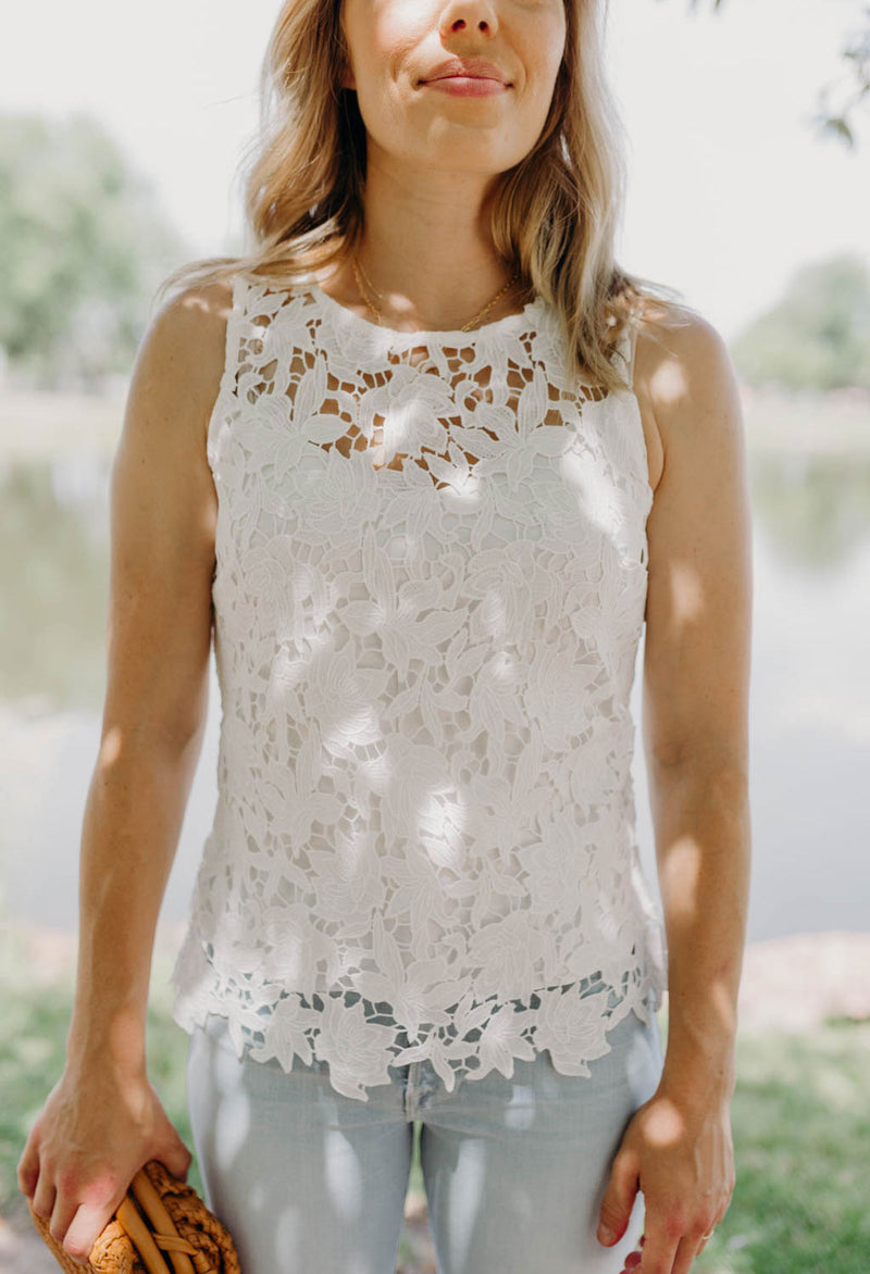 Blossom Sleeveless Lace Top