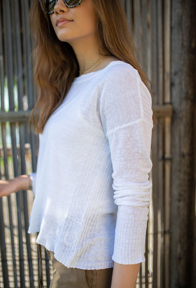 Josie Light Weight Linen Crew Neck Sweater