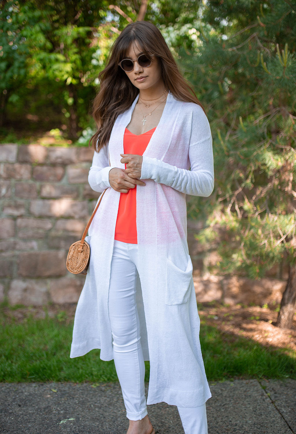 Peyton Light Weight Linen Duster Cardigan