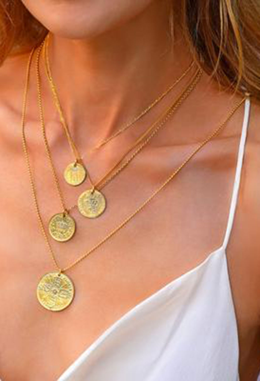 Monaco Coin Necklace 27""