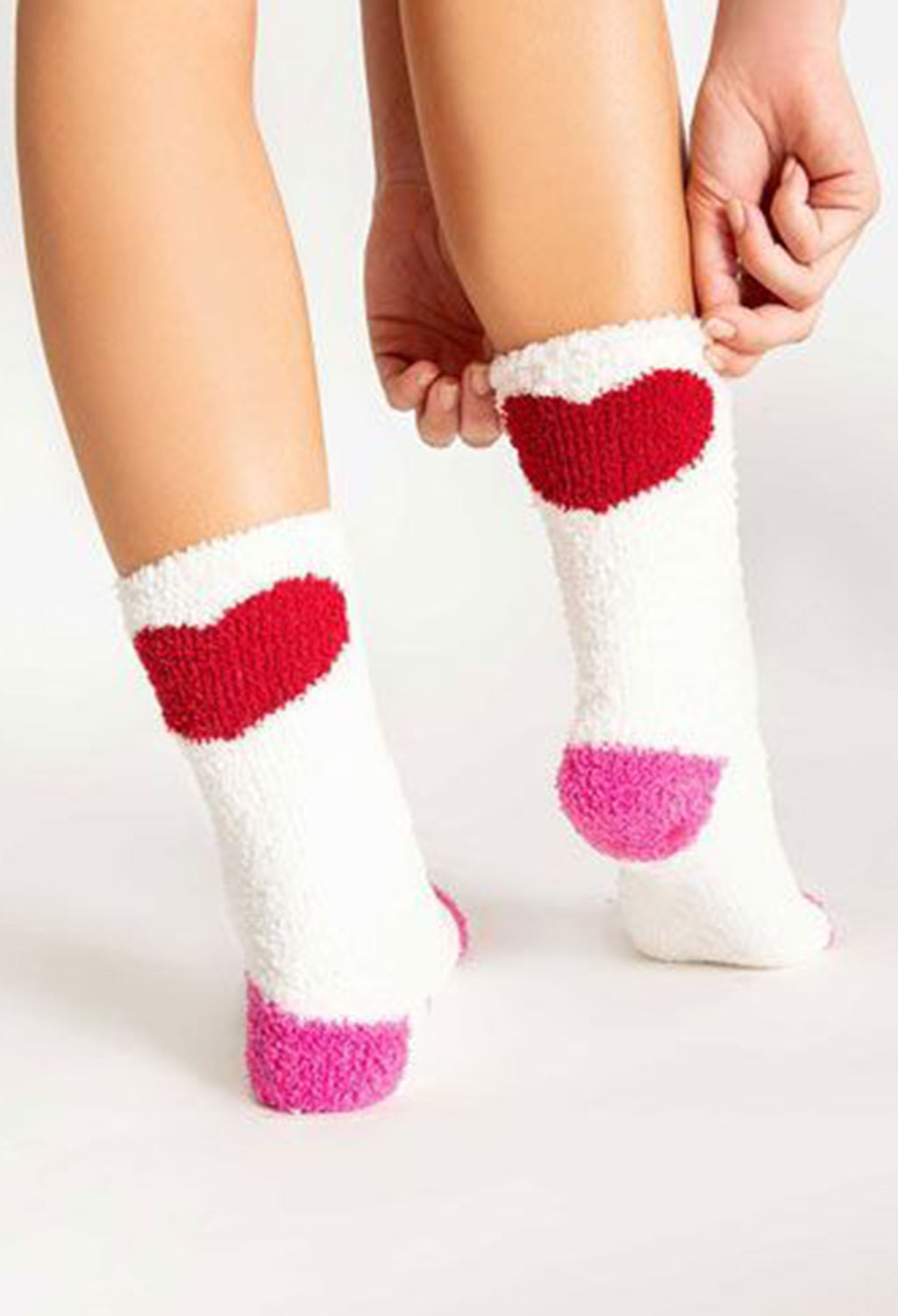 PJ Salvage Heart Socks - RUST & Co.