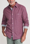 Faherty Stretch Seaview Flannel, Blue/Rose Gingham - RUST & Co.