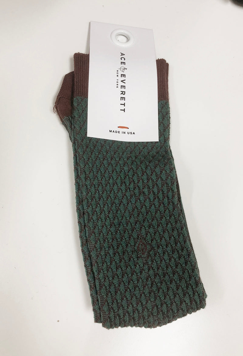 Ace & Everett Core Socks in Forest Green