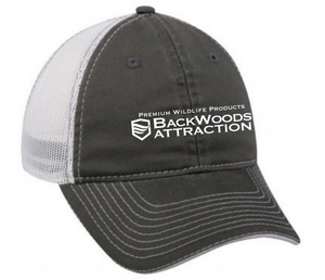 Charcoal/White Trucker Cap - Horizontal Logo