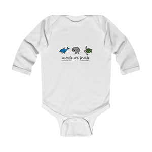 Animals Are Friends Vegan Baby Bodysuit
