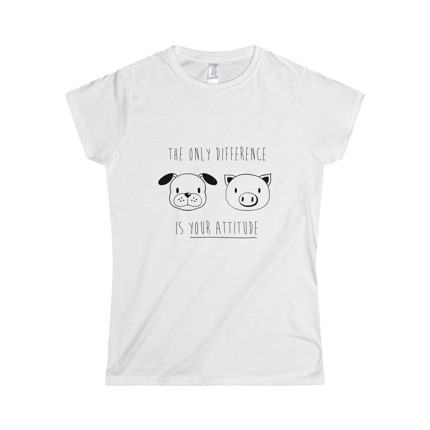 The Only Difference Is Your Attitude Vegan T-Shirt