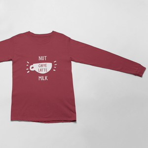 Nut Milk Caffé Latte Unisex Long Sleeve T-Shirt
