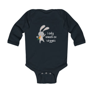 I Only Munch On Veggies Vegan Baby Bodysuit