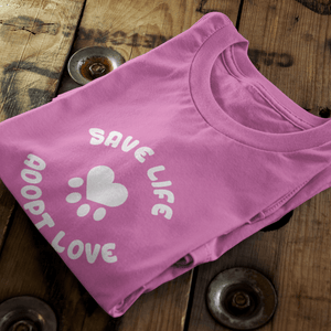 Save Life, Adopt Love Vegan T-Shirt