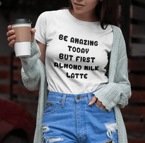 Almond Milk Latte Vegan T-Shirt