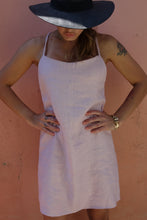Load image into Gallery viewer, Presea Linen Mini Dress with Adjustable Straps in Pink - Preséa