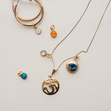 Gold Plated Moonstone Charm - Preséa