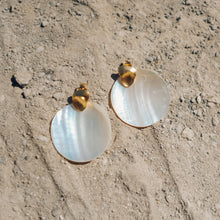 Load image into Gallery viewer, Mother of Pearl Shell Earrings - Presea Gold Sterling Silver Jewellery Gemstone Jewelry