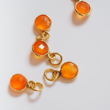 Load image into Gallery viewer, Gold Plated Carnelian Charm - Presea Gold Sterling Silver Jewellery Gemstone Jewelry