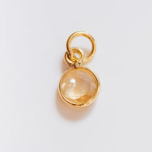 Load image into Gallery viewer, Gold Plated Citrine Charm - Presea Gold Sterling Silver Jewellery Gemstone Jewelry