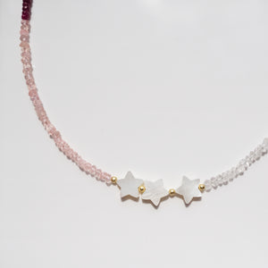 Star necklace with natural gemstones - Preséa