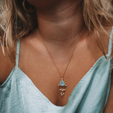 Load image into Gallery viewer, Marin Necklace | Gold plated sterling silver aquamarine necklace - Presea Gold Sterling Silver Jewellery Gemstone Jewelry