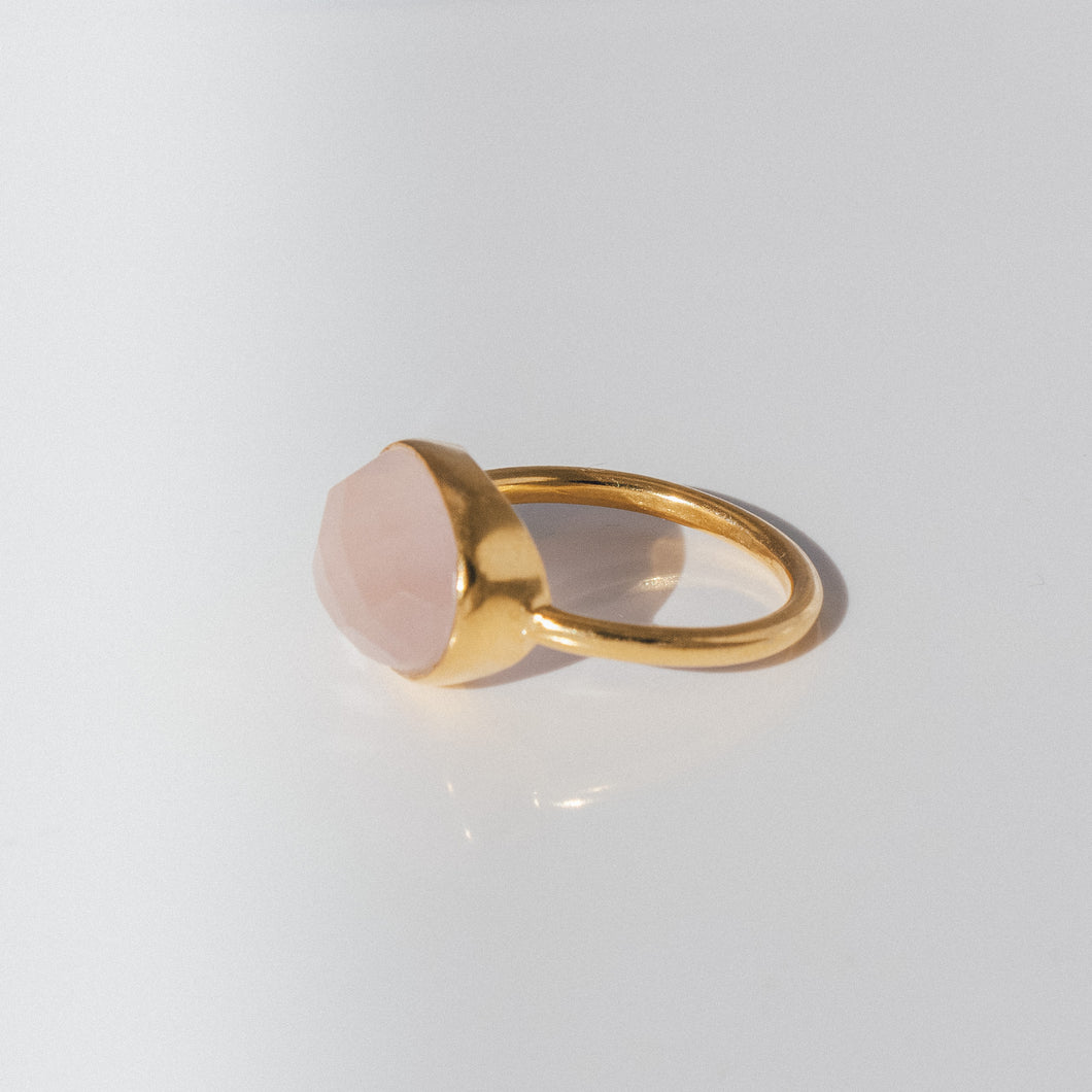 Pink Quartz Ring - Presea Gold Sterling Silver Jewellery Gemstone Jewelry