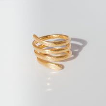 Load image into Gallery viewer, Handmade Spiral Ring - Presea Gold Sterling Silver Jewellery Gemstone Jewelry