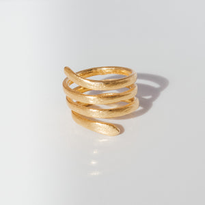 Handmade Spiral Ring - Presea Gold Sterling Silver Jewellery Gemstone Jewelry