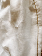 Load image into Gallery viewer, Presea Linen Relaxed Trousers with Gold Detail in White - Preséa