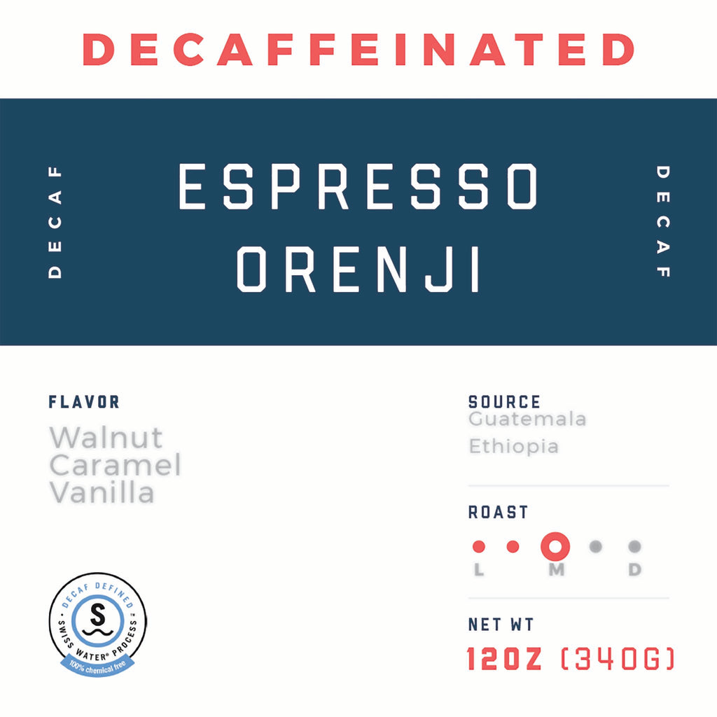 Decaf Espresso Orenji - Jaho Coffee & Tea