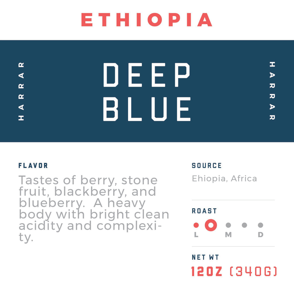 Ethiopia Harrar - Deep Blue - Jaho Coffee Roaster