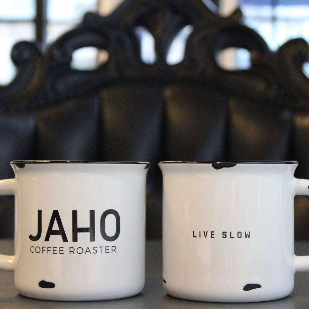 Jaho Live Slow Ceramic Camper Mug 12oz - Jaho Coffee & Tea