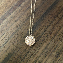 Load image into Gallery viewer, Rhinestone Circle Pendant Necklace